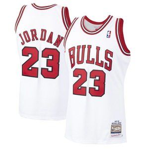 Chicago Bulls Michael Jordan 97-98 White Jersey